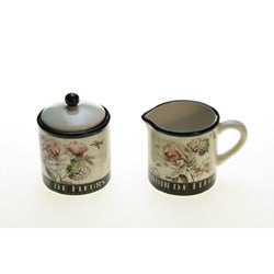 Certified International 'Marche De Fleurs' Sugar/ Creamer Set
