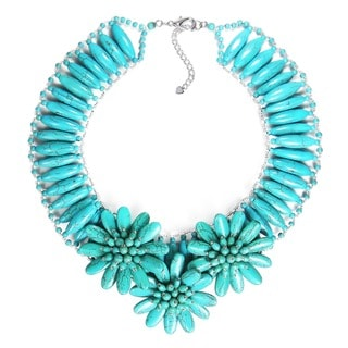 Captivating Sunflower Garden Turquoise Necklace (Thailand)