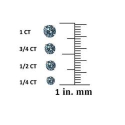 14k Gold 1/4ct to 1ct TDW Blue Diamond Stud Earrings