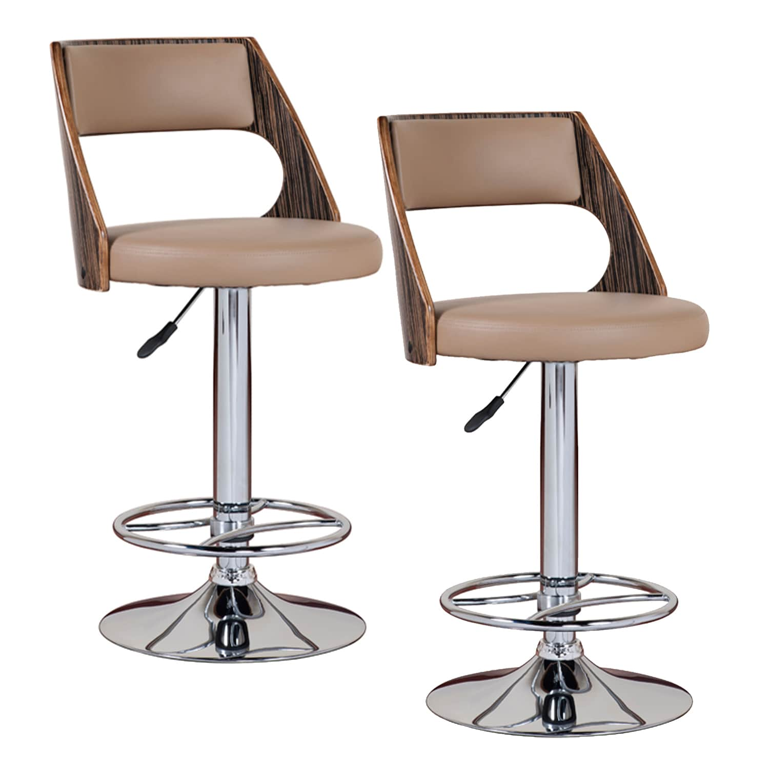 Saddle Bentback Adjustable Swivel Stool with Mocha  : Saddle Bentback Adjustable Swivel Stool with Mocha Highlights Set of 2 L14338597 from www.overstock.com size 1500 x 1500 jpeg 66kB