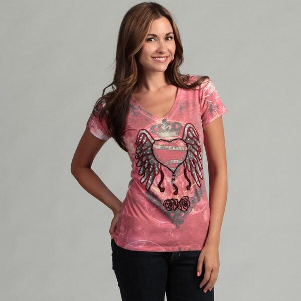 Spy Women's Heart Wing Design T-Shirt