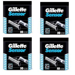 Gillette Sensor 10-count Refill Cartridges (Pack of 4)