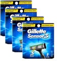 Gillette 8-count Sensor3 Refill Cartridges (Pack of 4)