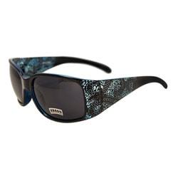 Women's Aqua Blue Paisley Fashion Sunglasses