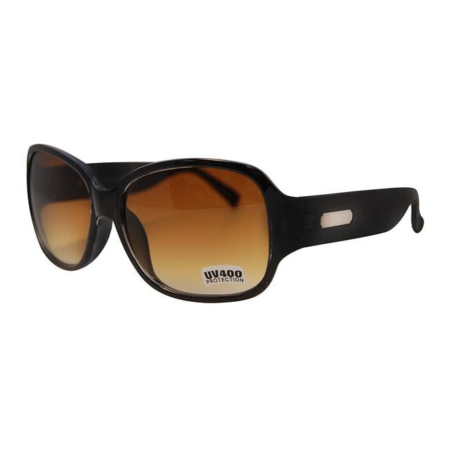 Women's Black/ Brown Fashion Sunglasses