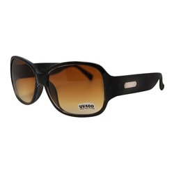 Women's Black/ Brown Fashion Sunglasses