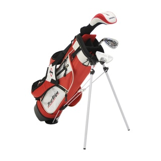 Tour Edge Golf HT Max-J Jr 2x1 Red Left-handed Golf Set with Bag