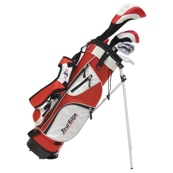 Tour Edge Golf Left-hand HT Max-J Jr 4x1 Golf Set with Bag