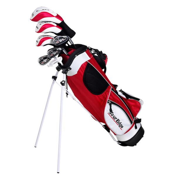Tour Edge Junior HT Max-J 5x2 Golf Set with Dual Strap Stand Bag