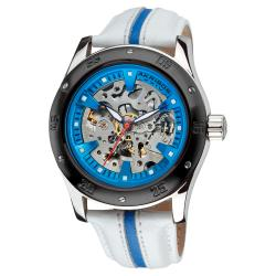 Akribos XXIV Men's Skeleton Automatic Retro Strap Watch
