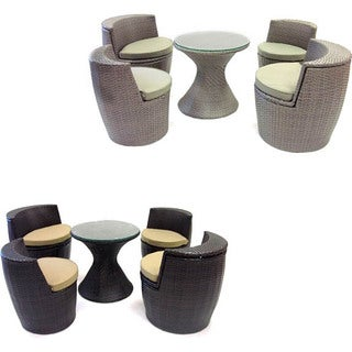 Stackable Woven Rattan 5-piece Outdoor Set