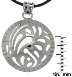 CGC Stainless Steel Designer Domed Circle Necklace