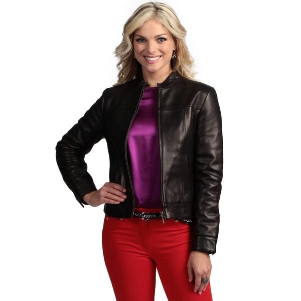 Tanners Avenue Women's Black Lambskin Leather Jacket