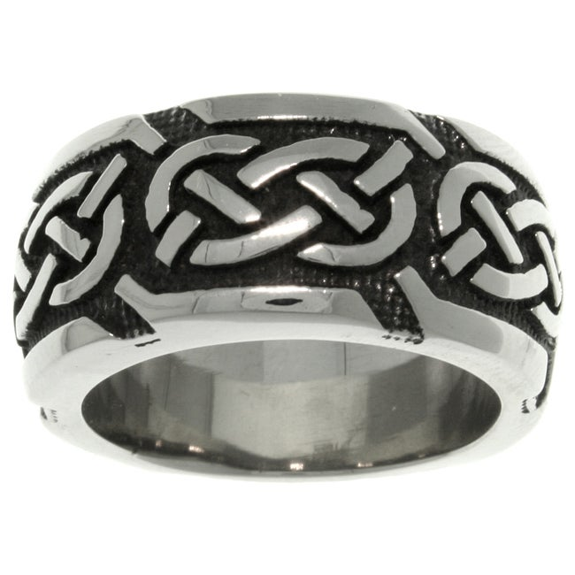CGC Stainless Steel Celtic Knotwork 'Luck' Band