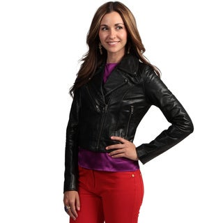 Tanners Avenue Women's Buffalo Leather Biker Jacket