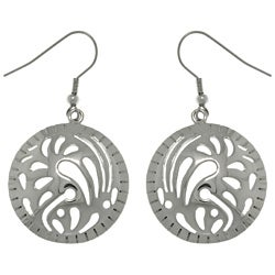 CGC Stainless Steel Designer Dome Circle Earrings
