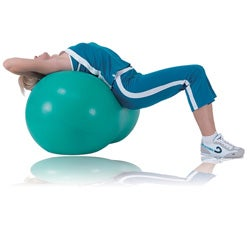 Sivan Health and Fitness 22-inch Green Peanut Exercise Ball