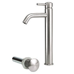 Brushed Nickel Tall Vessel Filler Faucet