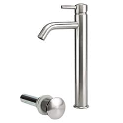 Brushed Nickel Tall Vessel Filter Faucet