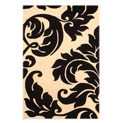 Hand Tufted Yves Ivory Wool Rug (4' x 6')