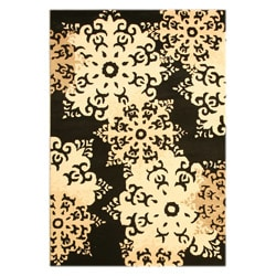 Hand-tufted Miro Black Wool Rug (5' x 7')