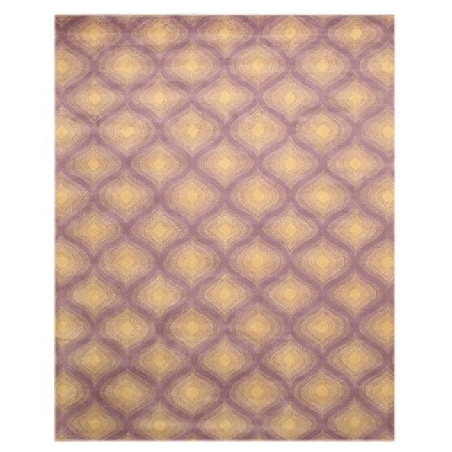Hand Tufted Paris Purple Wool Rug (7'9 x 9'9)