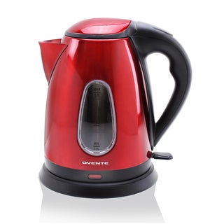 Ovente 1.7L Red Stainless Steel Electric Kettle