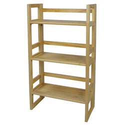 Folding Pine Wood Student Bookcase