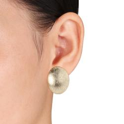 Miadora 18k Goldplated Oval Earrings