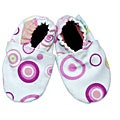 Pink Circles Baby Soft Sole Canvas Shoe