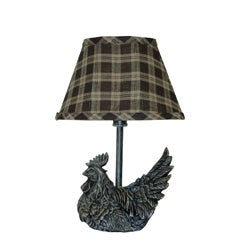 Mini Black Rooster Accent Lamp