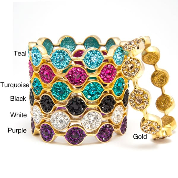 Gold Marquis Glitter Bangle (India)
