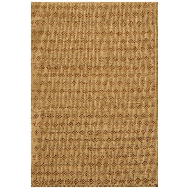 Hand-woven Beige Jute Rug (8' x 11')