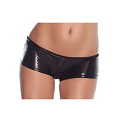 Coquette Black Shiny Short Panties