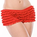 Coquette Red Ruffle Shorts