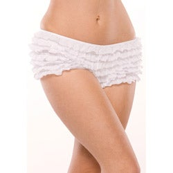 Coquette Ruffle Shorts with Back Bow Detail