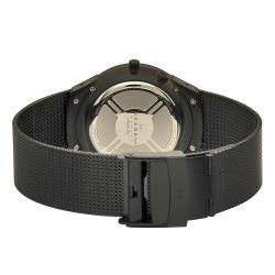 Skagen Men's Black Label Stainless Steel Black Mesh Band Watch
