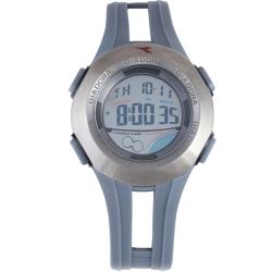 Diadora Men's Dual Time Display Grey Dial Rubber Digital Alarm Watch