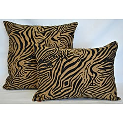 Sherry Kline Jungle Zebra Combo Pillows (Set of 2)