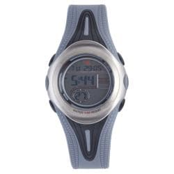 Diadora Men's Grey Dial Dual Time Rubber Digital Watch