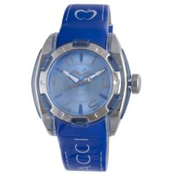 Baci Abbracci Women's Blue Patent Leather/Stainless Steel Watch