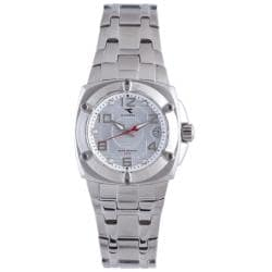 Diadora Women's Silver Dial Stainless Steel Date Watch