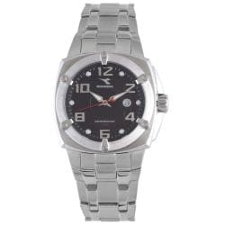 Diadora Men's Black Dial Stainless Steel Date Watch