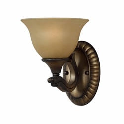 Traditional 1 light Wall Sconce in a Platinum Bronze
