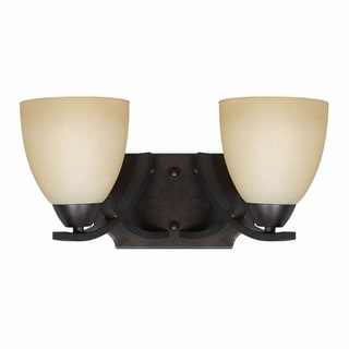Transitional 2 light Bath Vanity fixture in English Bronze