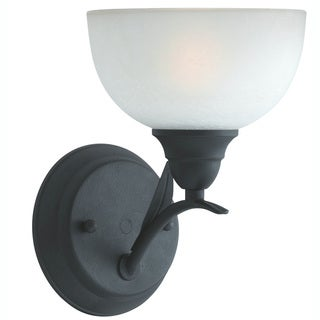 Transitional 1 light Wall Sconce in Blacksmith Bronze