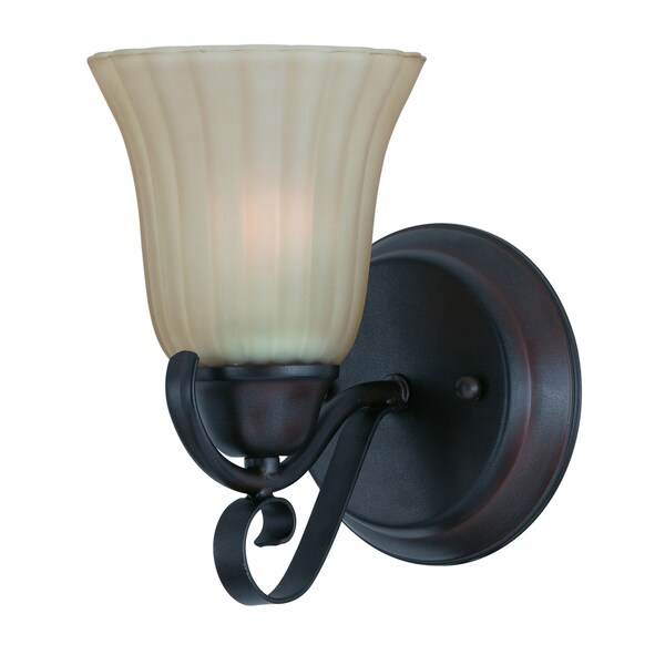 Transitional 1 light Wall Sconce in Bronze finish