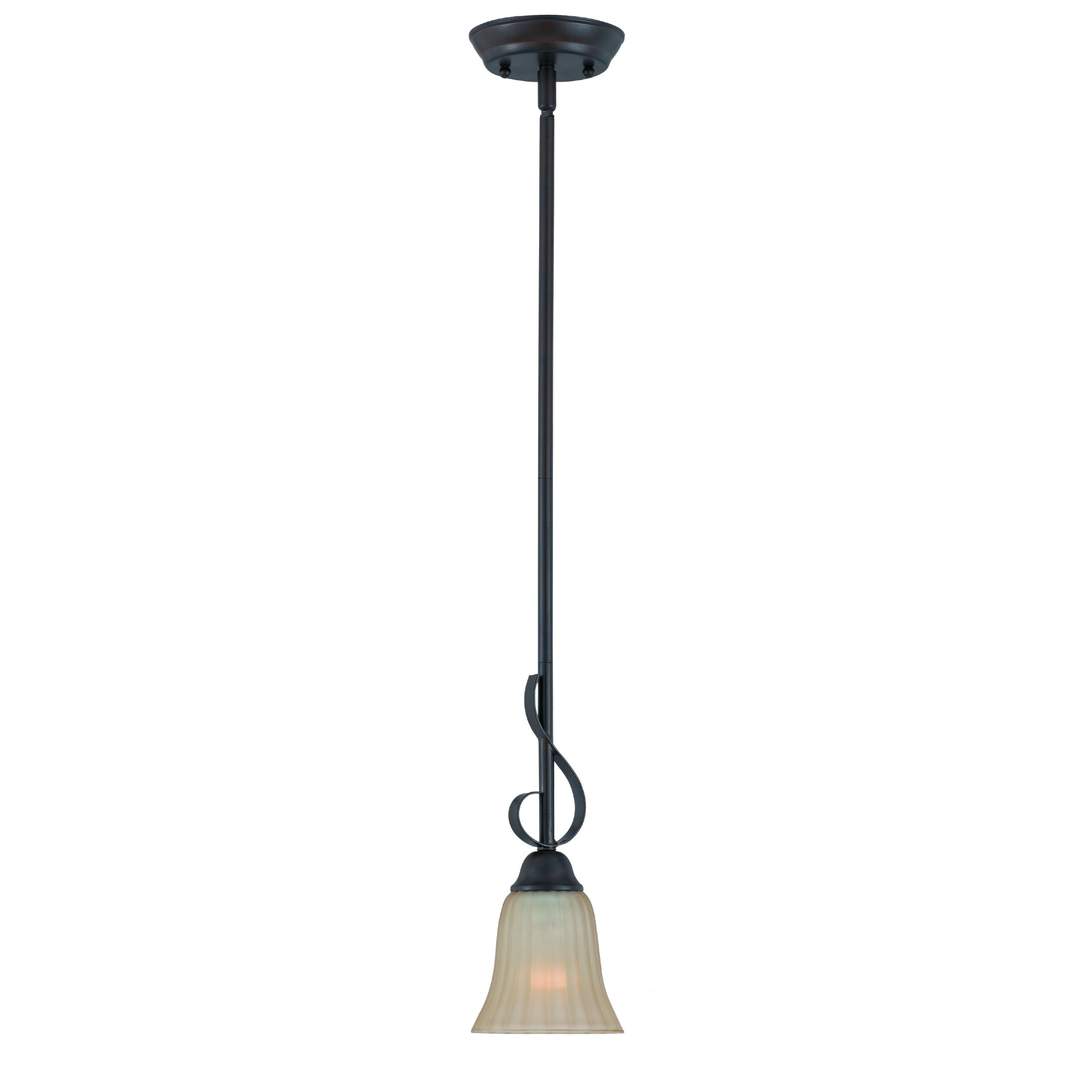 Transitional 1 light Mini-Pendant in Bronze finish