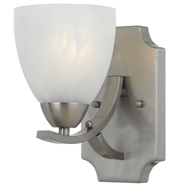 Wall Sconces Overstock : Transitional 1 light Wall Sconce in Satin Nickel - Overstock Shopping - Top Rated Sconces ...