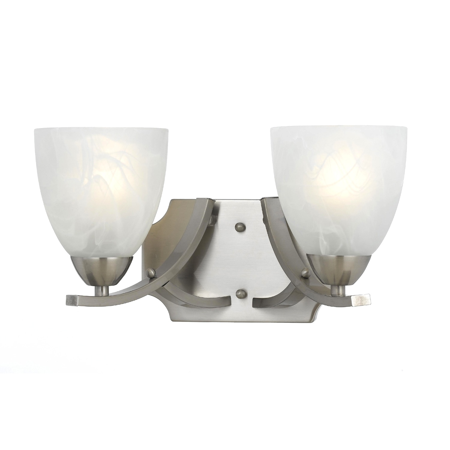 Bathroom Vanity Lights Overstock : Transitional 2 light Bath Vanity in Satin Nickel - 14339797 - Overstock.com Shopping - Top Rated ...